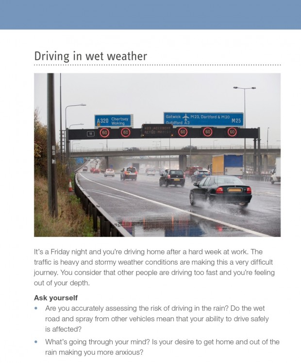 Screenshot of DVSA's official guide to better driving, pages 86 and 87