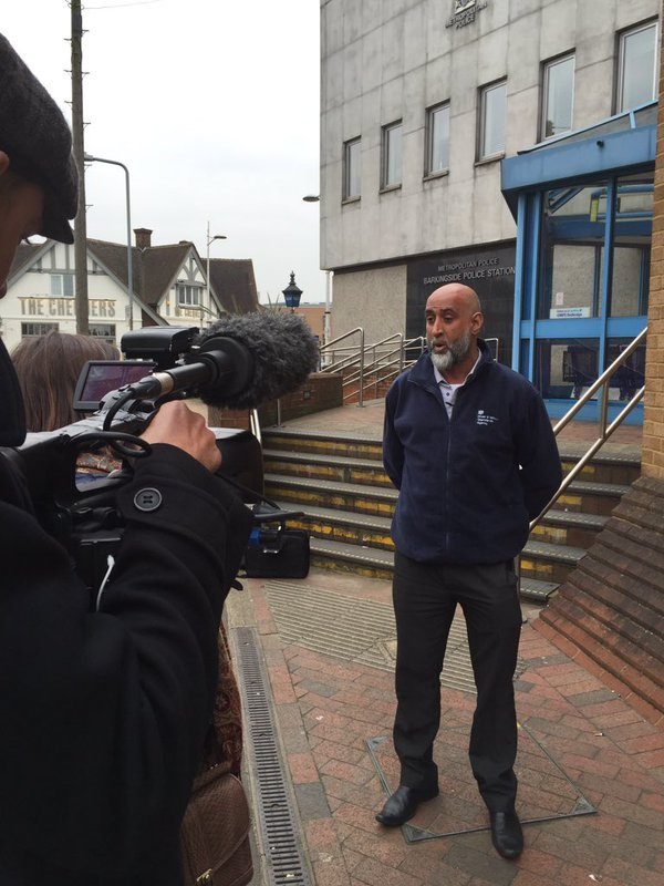 Acting Senior Investigations Manager, Vasim Choudhary being filmed for a future documentary about fraud.