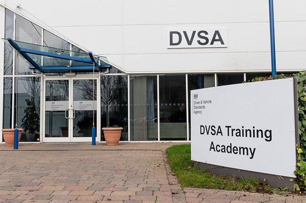 Front of a DVSA training academy building