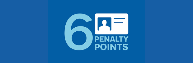 6 penalty points graphic