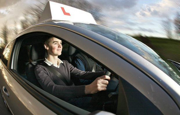 A learner driver on a lesson