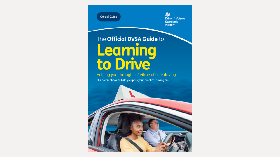 The front cover of the latest edition of the Official DVSA Guide to Learning to Drive
